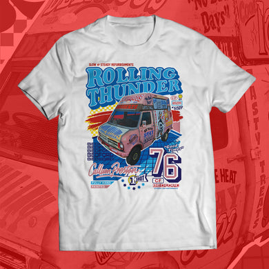 (ADULT SIZES) Ice Cream Truck NASCAR-Style T-Shirt
