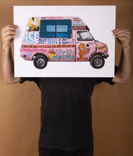Load image into Gallery viewer, Ice Cream Truck Print