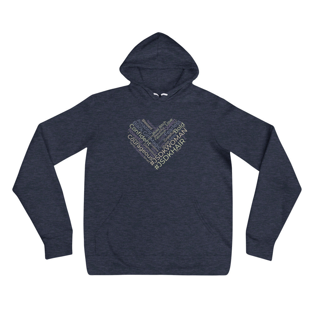 Unisex Hoodies | Light Navy - JSDK Hair