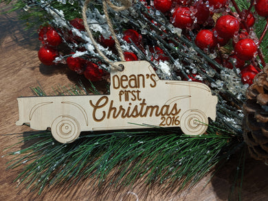 Wood Truck Ornament