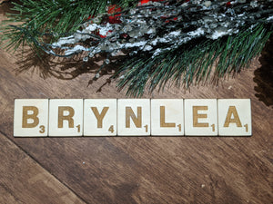Wooden Christmas Stocking Name Tags