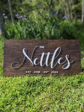 "Load image into Gallery viewer, 18""x36"" Stained Wedding Sign"