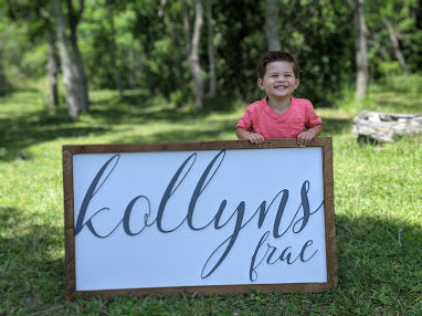 Framed Nursery Sign