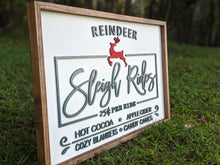 Load image into Gallery viewer, Sleigh Rides Framed Sign