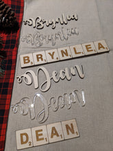 Load image into Gallery viewer, Wooden Christmas Stocking Name Tags