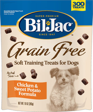 Bil-Jac Grain-Free Chicken & Sweet Potato Dog Treats 10-oz