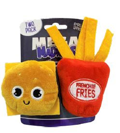 Mega Madness Small Dog Toys - Burger & Fries 2 Pack