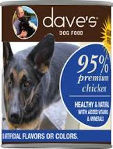 Dave's 95% Chicken and Chicken Liver Dog Canned