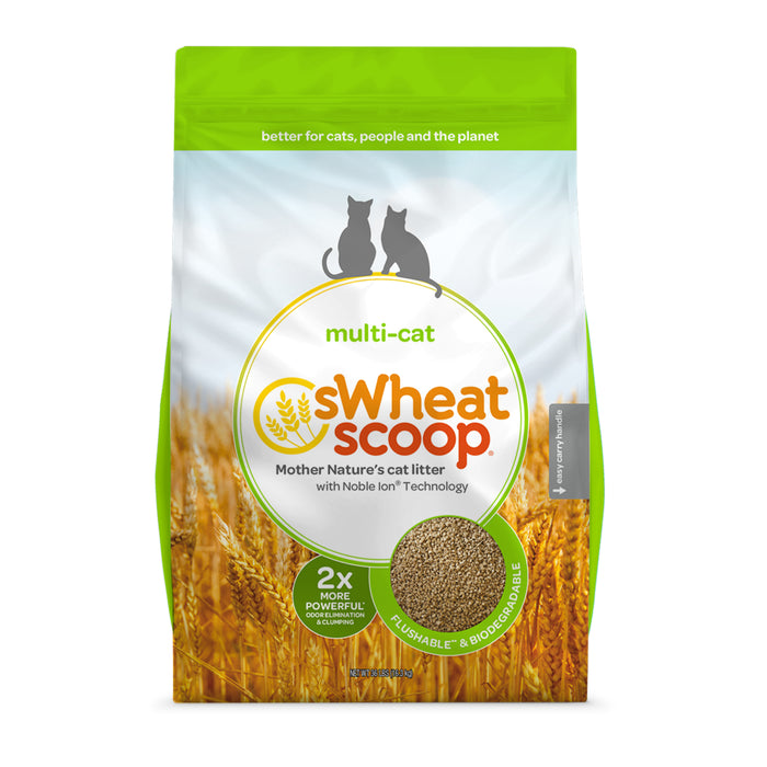 sWheat Scoop - Multi-Cat Unscented Clumping Litter