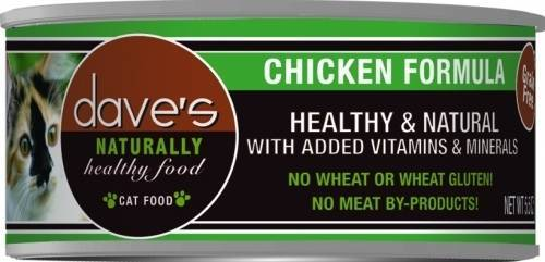 Dave's - Naturally Healthy Grain Free Canned Cat Food Chicken Formula