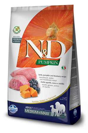 Farmina - Med/Maxi Pumpkin, Lamb & Blueberry Dog Food