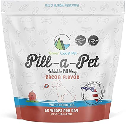 Green Coast Pet - Pill-a-Pet Bacon Flavored Pill Wrap for Dogs