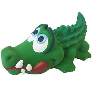 Sensory Squeaky Crocodile Dog Toy