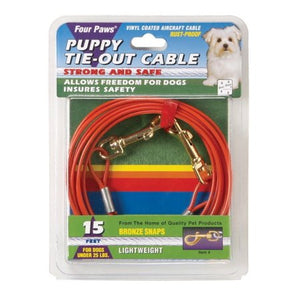 Four Paws - Light Weight Tie Out Cable for Puppies & Small Dogs