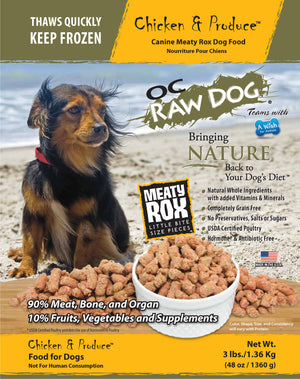 OC Raw Dog - Chicken & Produce Frozen Raw Dog Food - PICKUP ONLY