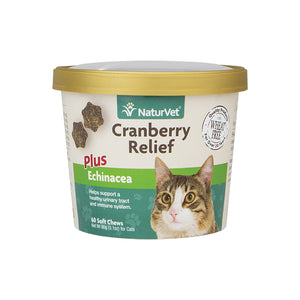 NaturVet Cranberry Relief Cat Soft Chews 60-count