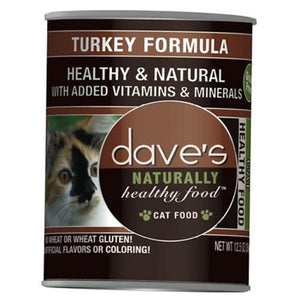 Dave's - Naturally Healthy Canned Cat Food Turkey Recipe
