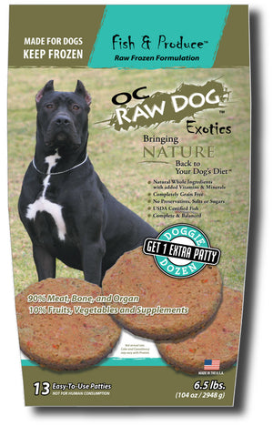 OC Raw Dog - Fish & Produce Frozen Raw Dog Food - PICKUP ONLY