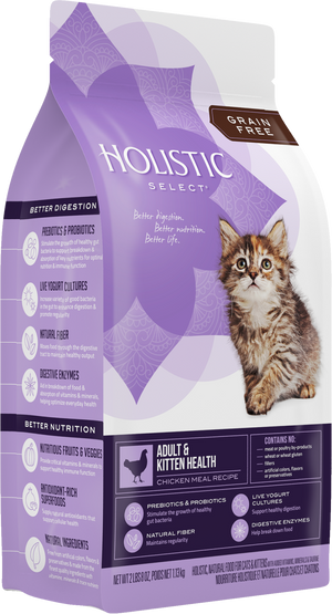 Holistic Select - Feline Grain Free Adult & Kitten Health Chicken