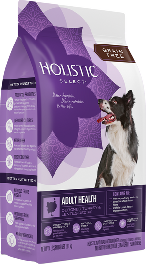 Holistic Select - Grain Free Adult Health Turkey & Lentils