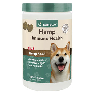 NaturVet Hemp Immune Health Soft Chews 60-count