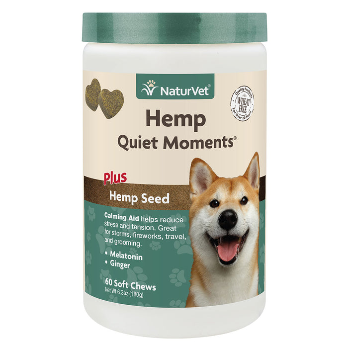 NaturVet Hemp Quiet Moments Calming Aid 60-count