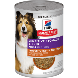 Hill's Science Diet - Adult Sensitive Stomach & Skin Tender Turkey & Rice Stew Canned 12.5oz