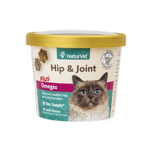 NaturVet Hip & Joint Cat Soft Chews 60-count