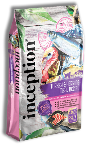 Inception - Turkey & Herring Recipe for Cats 4-lb