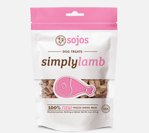Sojos - Simply Lamb Dog Treats 4-oz