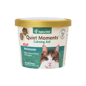 NaturVet Quiet Moments Cat Soft Chews 60-count