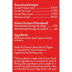 Stella & Chewy's Broth Topper Grass-Fed Beef 11oz