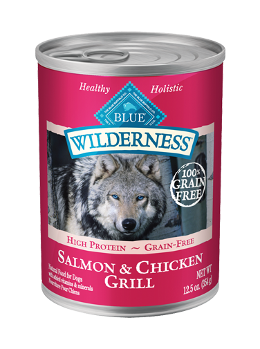 Blue Buffalo - Wilderness Salmon & Chicken Grill Canned 12.5-oz