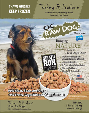 OC Raw Dog - Turkey & Produce Frozen Raw Dog Food - PICKUP ONLY
