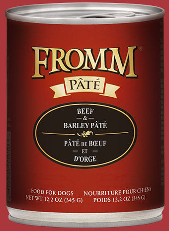 Fromm Beef & Barley Pate Canned Dog