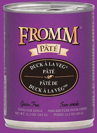 Fromm Duck A La Veg Pate Canned Dog