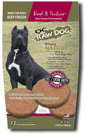OC Raw Dog - Beef & Produce Frozen Raw Dog Food - PICKUP ONLY
