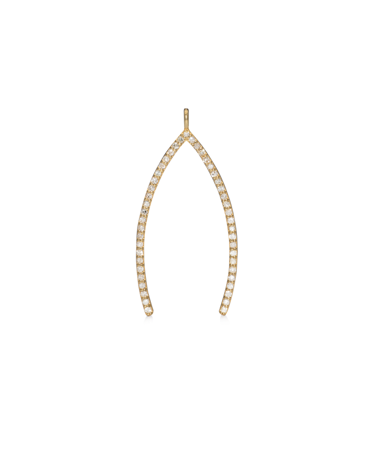 YELLOW GOLD JUMBO WISHBONE CHARM