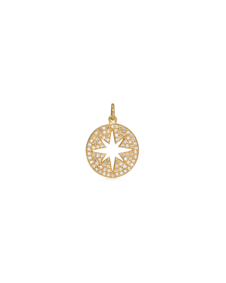 YELLOW GOLD AND DIAMOND SUNBURST CHARM