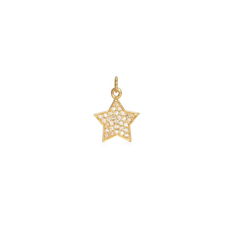 Yellow Gold and Diamond Star Charm