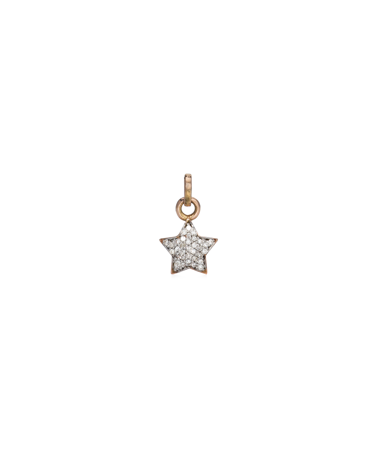 ROSE GOLD AND DIAMOND STAR CHARM
