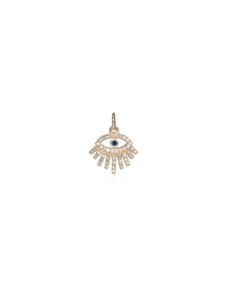 Yellow Gold and Diamond Eyelash Charm