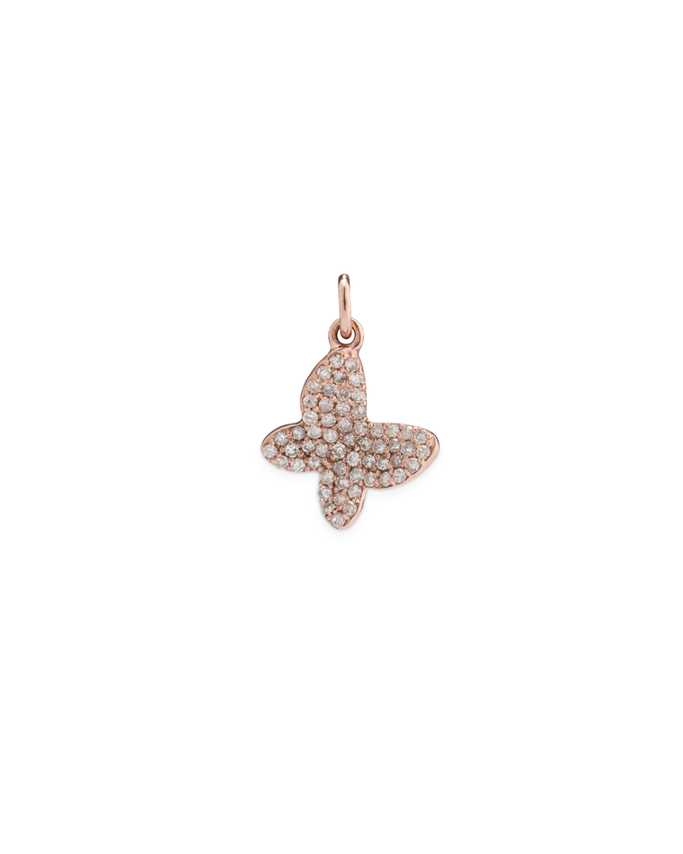 ROSE GOLD DIAMOND BUTTERFLY CHARM