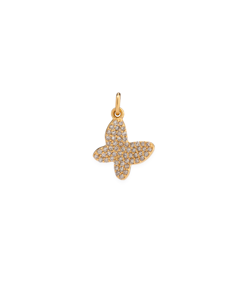 Yellow Gold Diamond Butterfly Charm