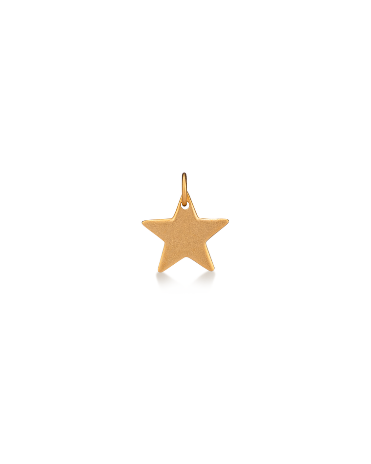 24 Karat Yellow Gold Over Sterling Silver Star Charm
