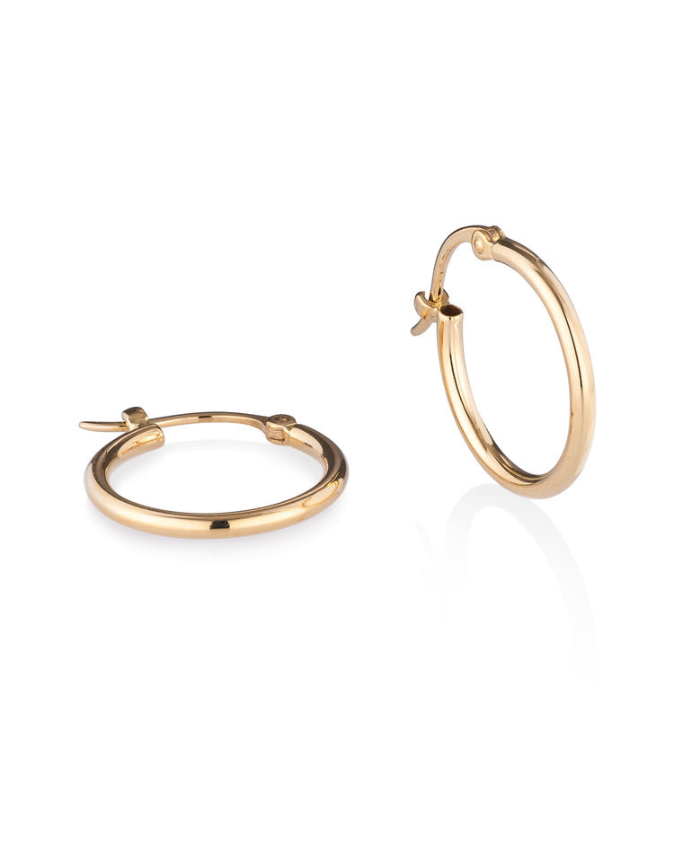 Yellow Gold Small Classic Hoop