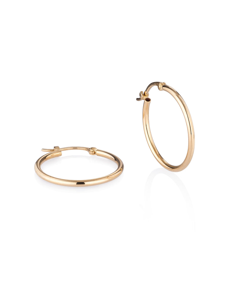 Yellow Gold Medium Classic Hoop