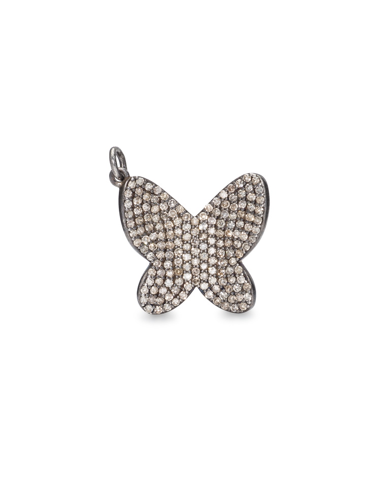 Black Rhodium Jumbo Diamond Butterfly Charm