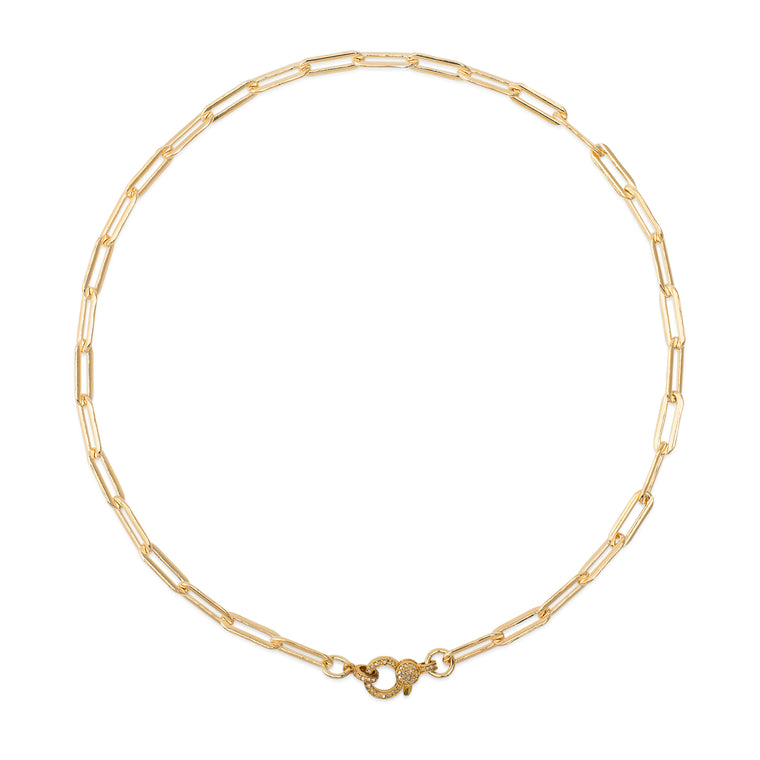 Yellow Gold Filled Chain and Diamond Lobster Clasp Pick Your Length Necklace
