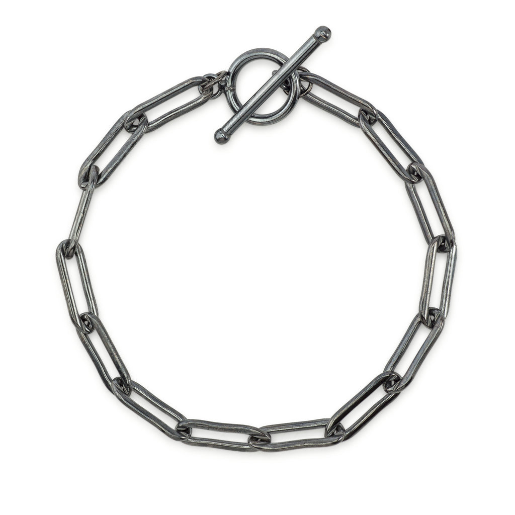 black-rhodium-chain-bracelet